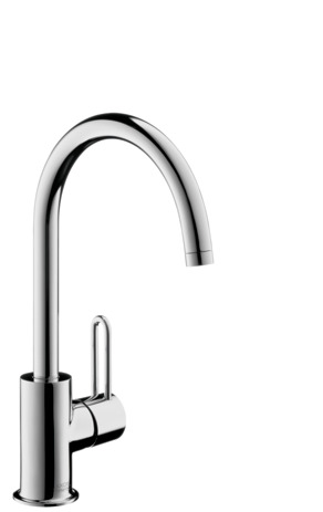 Single lever basin mixer 210 with pop-up waste set and swivel spout with 360° range