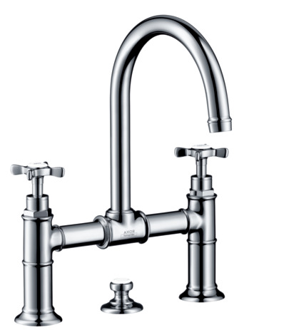 2-handle basin mixer 220 with pop-up waste