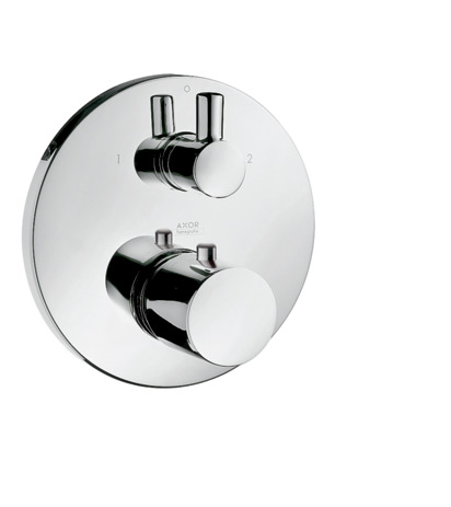Thermostatic mixer for concealed installation with shut-off and diverter valve