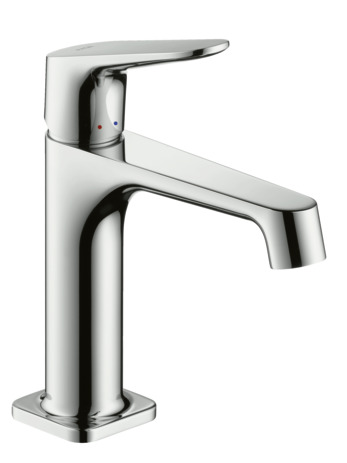 Single lever basin mixer for standard basins without pop-up waste