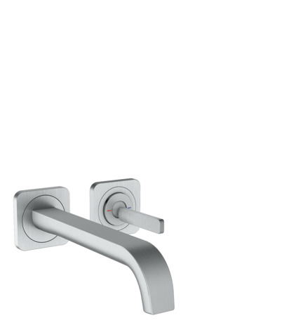Single lever basin mixer for concealed installation with escutcheons, wall-mounted