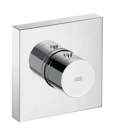 Thermostatic module 120/120 Square for concealed installation