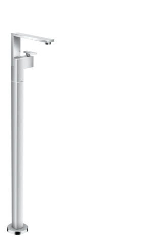 Single lever basin mixer floor-standing with push-open waste set