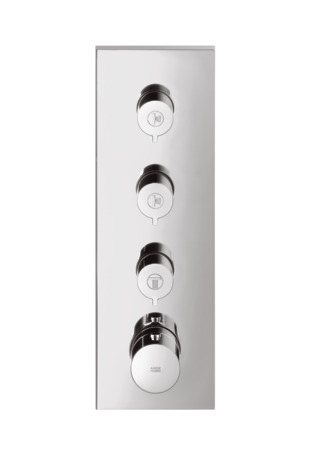 "Axor ShowerCollection Thermostatic 3-Function Trim Module, 15""x5"""