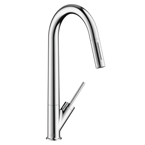 Axor Starck 2-Spray HighArc Kitchen Faucet, Pull-Down, 1.75 GPM