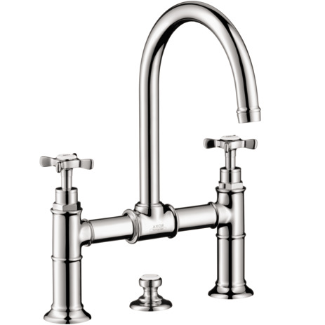 Axor Montreux Widespread Faucet with Cross Handles, Bridge Model, 1.2 GPM