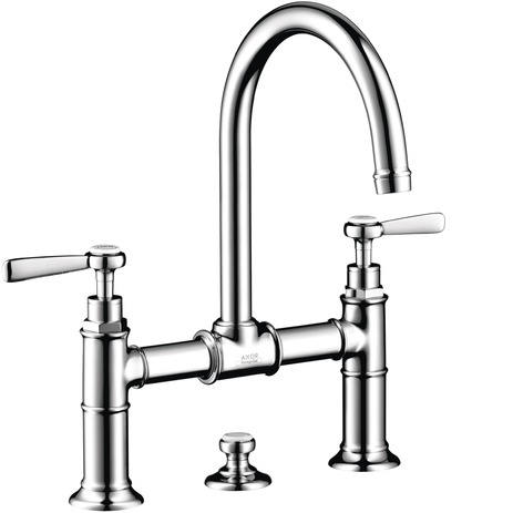Axor Montreux Widespread Faucet with Lever Handles, Bridge Model