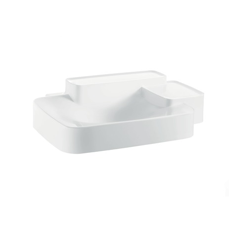Axor Bouroullec Wall-Mounted Washbasin with Two Shelves, Small