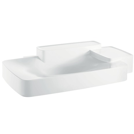 Axor Bouroullec Wall-Mounted Washbasin with Two Shelves, Large