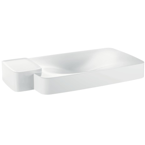 Axor Bouroullec Wall-Mounted Washbasin with One Shelf, Large