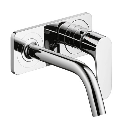 Axor Citterio M Wall-Mounted Single-Handle Faucet Trim with Base Plate