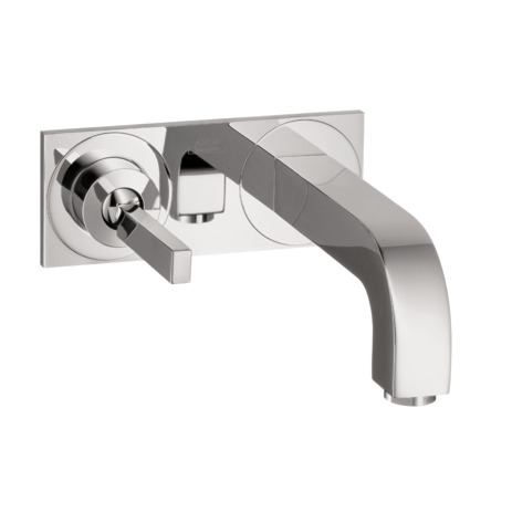 Axor Citterio Wall-Mounted Single-Handle Faucet Trim with Base Plate
