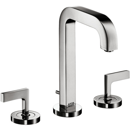 AXOR Citterio Widespread Faucet with Lever Handles, 1.2 GPM