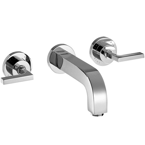 Axor Citterio Wall-Mounted Widespread Faucet Trim with Lever Handles