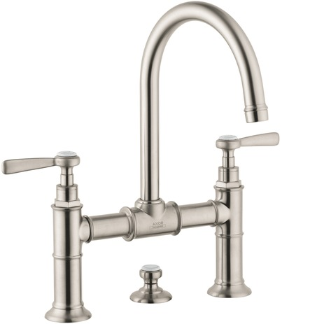 Axor Montreux Widespread Faucet with Lever Handles, Bridge Model, 1.2 GPM