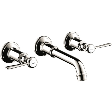 Axor Montreux Wall-Mounted Widespread Faucet Trim with Lever Handles