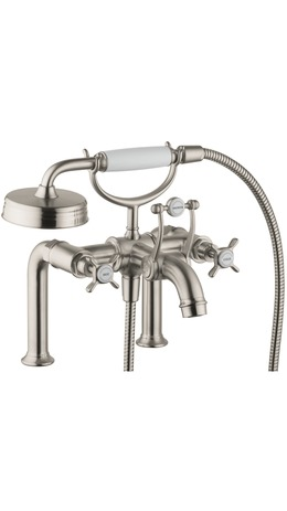 Axor Montreux Rim-Mounted Tub Filler with Cross Handles, 2.0 GPM