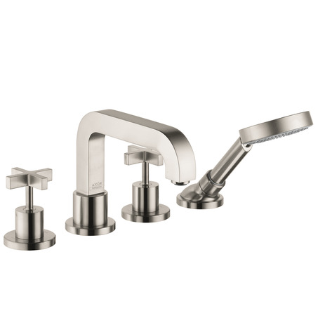 Axor Citterio 4-Hole Roman Tub Set Trim with Cross Handles, 2.0 GPM