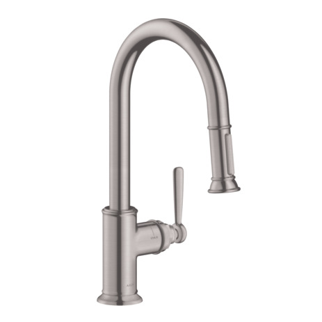 Axor Montreux 2-Spray HighArc Kitchen Faucet, Pull-Down