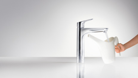 Single lever basin mixer 190 with pop-up waste