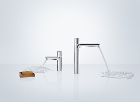 Basin mixer 110 with pop-up waste set
