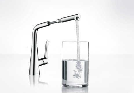 Single lever kitchen mixer 320, pull-out spout, 1jet
