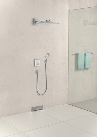 ShowerSelect glass termostato con 2 llaves de paso empotrado