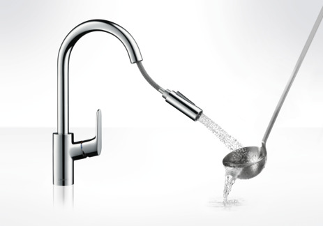 Single lever kitchen mixer 240 with pull-out spray