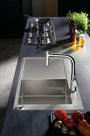 C71-F450-02 Sink combi 450 Select with drainboard