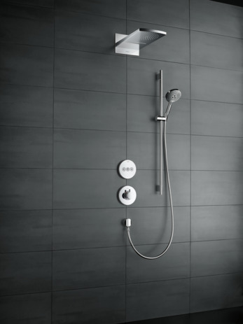 hansgrohe overhead showers raindance rainfall 2 spray modes 28433000. Black Bedroom Furniture Sets. Home Design Ideas