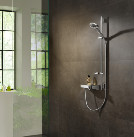 Thermostatic shower mixer 300 for exposed installation