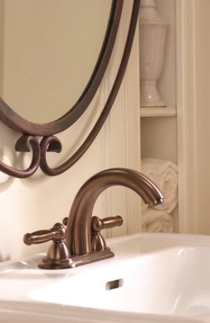Swing C Widespread Faucet with Lever Handles, 1.2 GPM