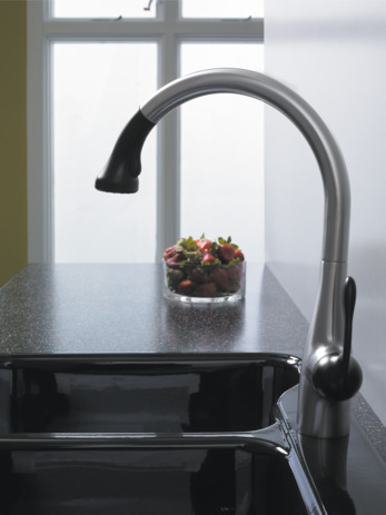 Semi-Pro Kitchen Faucet, 2-Spray Pull-Down, 1.75 GPM