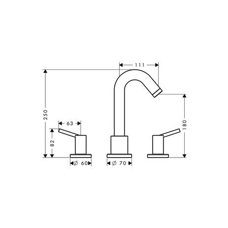 talis wannenarmaturen 1 verbraucher chrom 32313000. Black Bedroom Furniture Sets. Home Design Ideas
