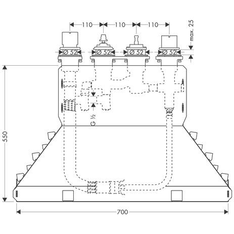 hansgrohe grundk rper 3 4 loch wannenarmaturen ecostat. Black Bedroom Furniture Sets. Home Design Ideas