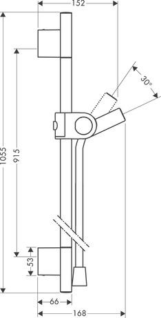 axor barres de douche axor uno barre de douche 27989000. Black Bedroom Furniture Sets. Home Design Ideas