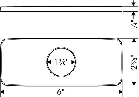 Base Plate for Modern Single-Hole Faucets, 6""