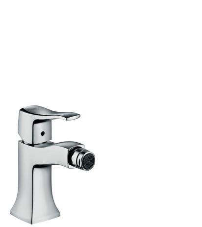 Single lever bidet mixer with pop-up waste set