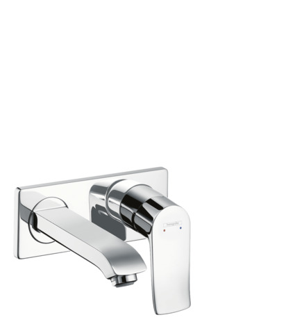Single lever basin mixer for concealed installation wall-mounted with spout 16.5 cm
