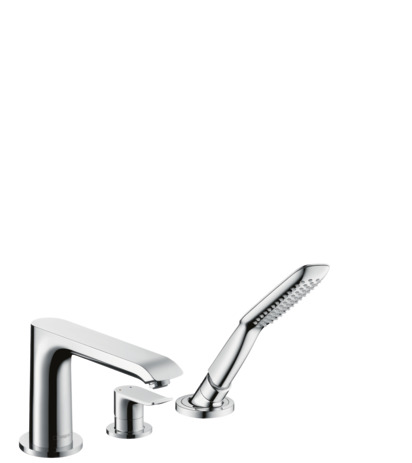 3-hole rim mounted single lever bath mixer