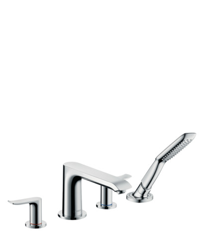 4-hole rim mounted bath mixer