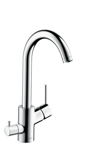 Single lever kitchen mixer 270 with device shut-off valve