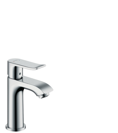 Single lever basin mixer 100 for cloakroom basins without waste