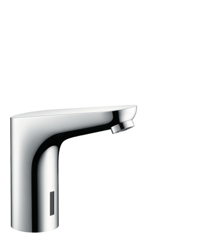 Electronic basin mixer with temperature pre-adjustment mains connection 230 V