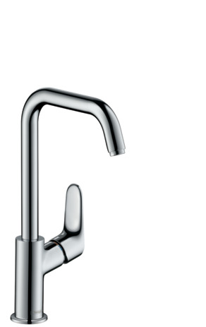 Single lever basin mixer 240 with swivel spout and pop-up waste set