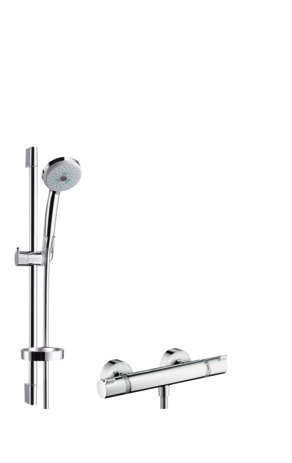 shower system for exposed installation Multi with Ecostat 1001 SL thermostat and shower bar 65 cm