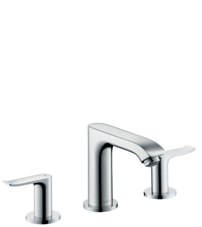 3-hole basin mixer 100 with pop-up waste set