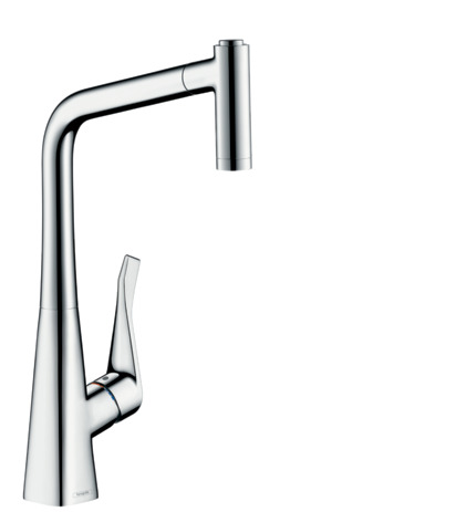 M7116-H320 Single lever kitchen mixer with pull-out spray