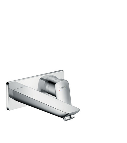 Single lever basin mixer for concealed installation with spout 195 mm wall-mounted