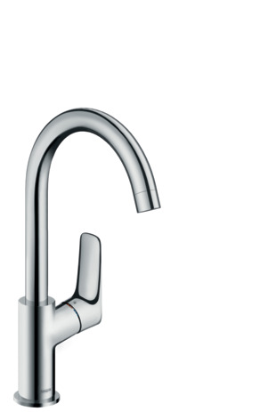 Single lever basin mixer 210 with swivel spout with 120° range and pop-up waste set